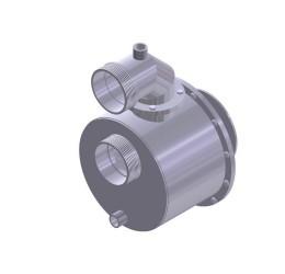 """CARACOL INOX 3"""" (p/ motor BRANCO 7,0 CV - DIESEL)"""