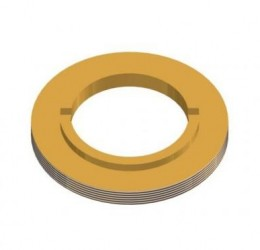BRASS NUT F/ 61 MM STAINLESS STEEL BALL