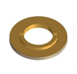 BRASS NUT F/ 75 MM STAINLESS STEEL BALL