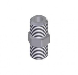 "1/8"" STAINLESS STEEL NIPPLE NPT"
