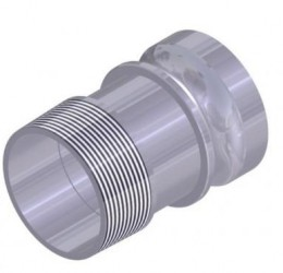 "2"" and 3"" MALE/OUTSIDE-THREAD COUPLER"