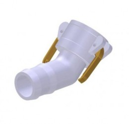 45º ALUMINUM FEMALE/HOSE COUPLER