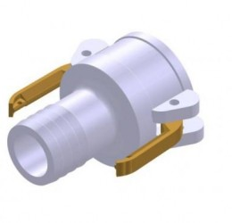 ALUMINUM FEMALE/HOSE COUPLER
