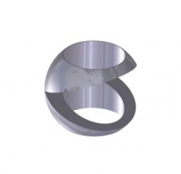"46MM STAINLESS STEEL ""V"" BALL"