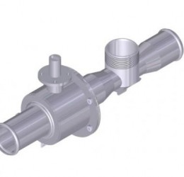 "2"" FLOW VALVE, WITH 1 1/2"" TURBINE AND ""V"" BALL"