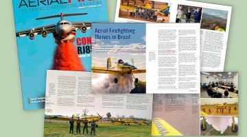 Fire fighting with Zanoni gates is featured in Aerial Fire Magazine