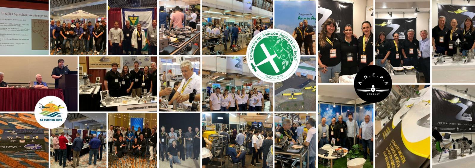 Congressos da aviação agrícola em 2019