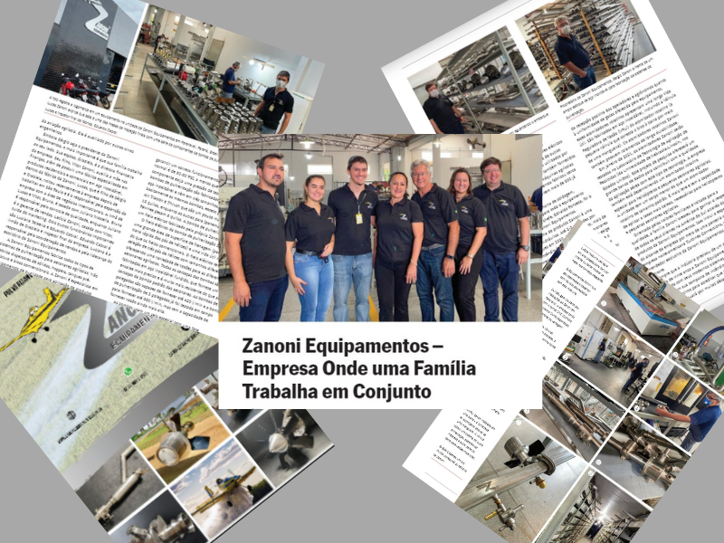 Artigo na AgAir Update conta história da Zanoni Equipamentos
